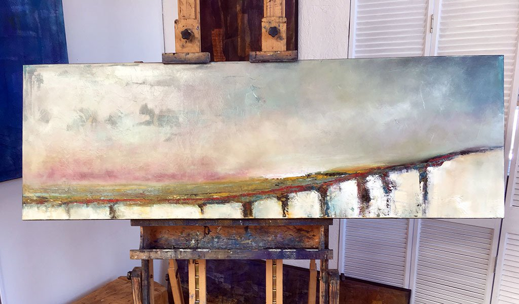 "20"" x 60"".  Oil on canvas.  After the third layer."